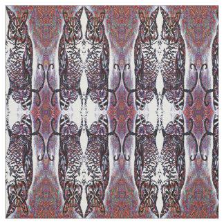 Decorative Mirrored Owl Pattern Fabric