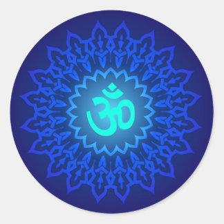 Decorative Om Design Classic Round Sticker