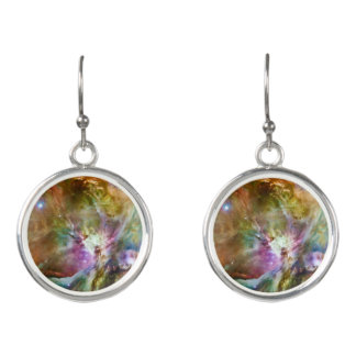 Decorative Orion Nebula Galaxy Space Photo Earrings