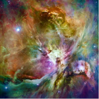 Decorative Orion Nebula Galaxy Space Photo Photo Sculpture Badge