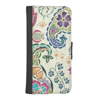 Decorative Peacock and Colorful Flowers iPhone SE/5/5s Wallet Case