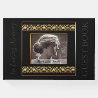 Decorative Photo Frame Quote Memorial Guest Book