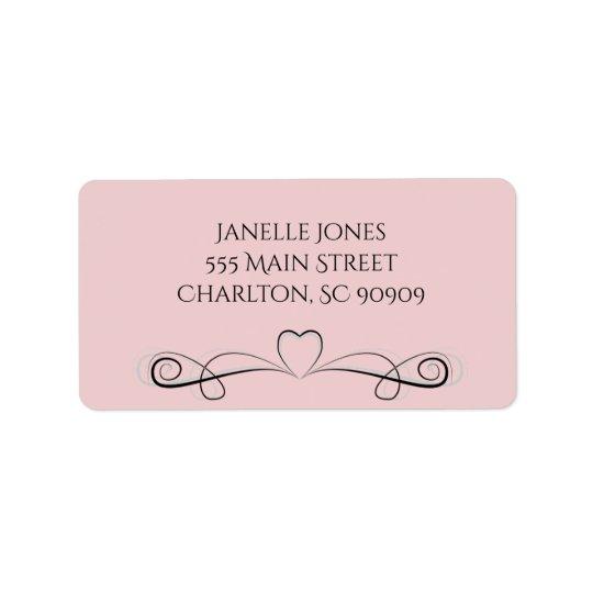 Decorative pink address labels