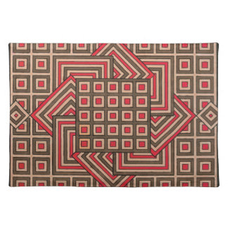 Decorative Placemats - Brown/Red
