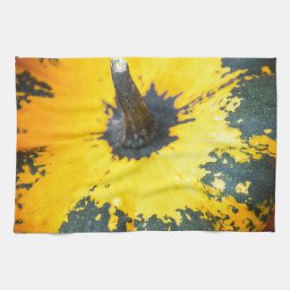 decorative pumpkins tea towel