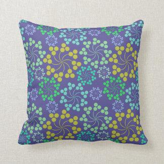 Decorative Purple fun floral designed throw pillow