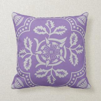 Decorative Purple fun floral designed throw pillow Cushions