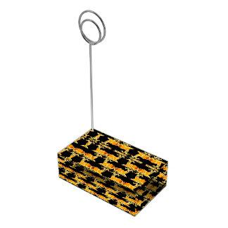 Decorative Ram Pattern Table Card Holder