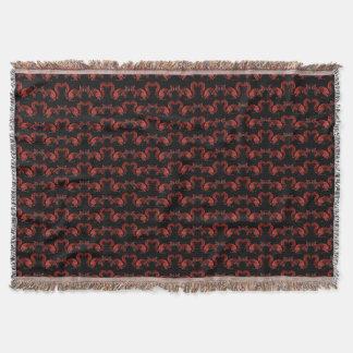 Decorative Red Squirrel Pattern Throw Blanket