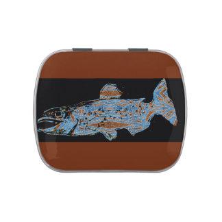 Decorative Salmon Candy Tin