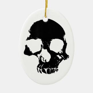 Decorative scary skull ornament