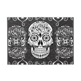 Decorative Sugar Skull Black White Gothic Grunge Cover For iPad Mini