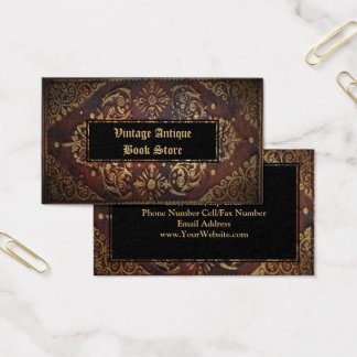 73 for history teachers business cards and for history teachers decorative vintage antique leather gold book business card reheart Gallery