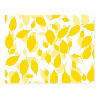 Decorative yellow floral pattern post cards