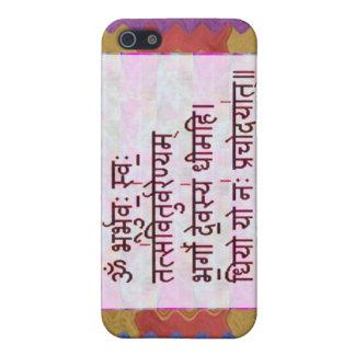 Dedication to GAYATRI Mantra - Artistic Background iPhone 5 Cases