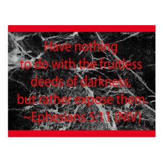 Deeds of Darkness Postcard