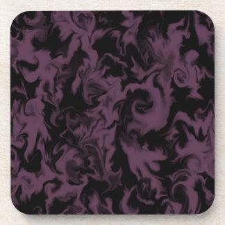 Deep Berry Pink & Black mixed color coaster