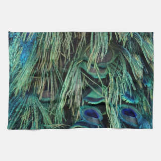 Deep Blue And Green Peafowl Feathers Kitchen Towels