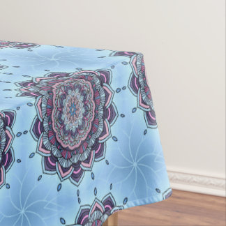 Deep Blue Glow Mandala ID361 Tablecloth