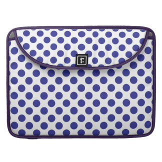 Deep Blue Polka Dots Sleeve For MacBooks