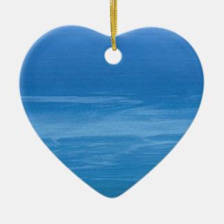 deep blue sea ceramic heart decoration