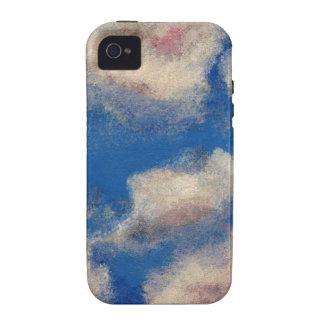 DEEP BLUE SKY (a sky with clouds design) ~ iPhone 4/4S Case