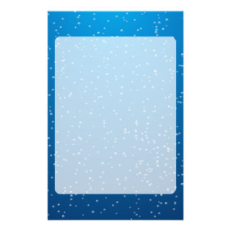 Deep Blue Water and TIny Bubbles Customised Stationery