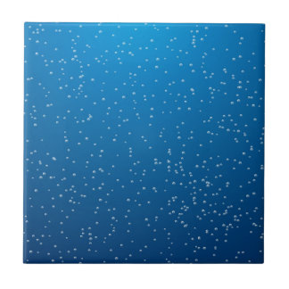 Deep Blue Water and TIny Bubbles Tile