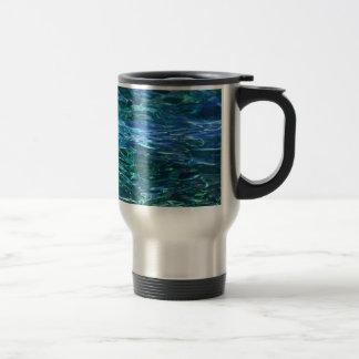 Deep blue waters mug