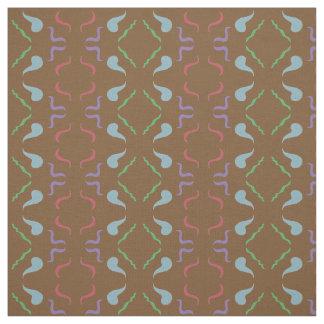 Deep Brown Pattern Fabric