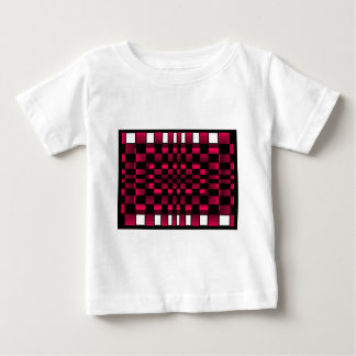 Deep Burgundy Wine Red Optical Illusion Fun Baby T-Shirt