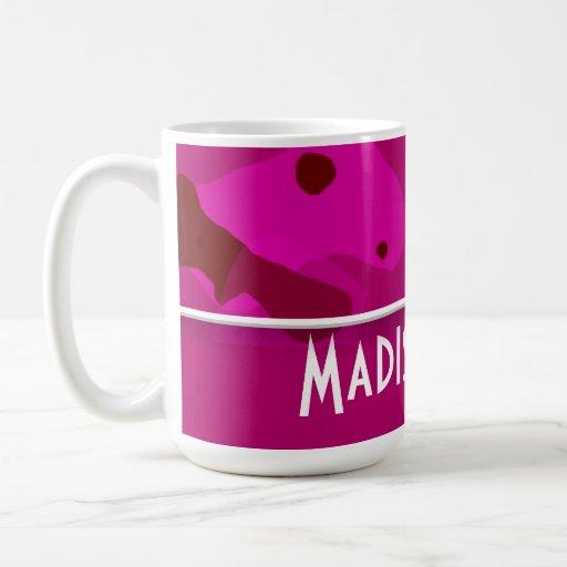 Deep Cerise Camo; Personalized Mug