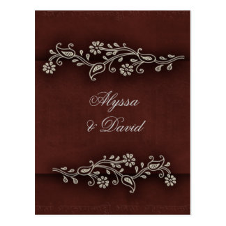 Deep chocolate brown Indian accent Post Card