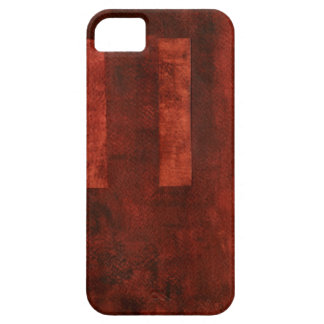 Deep Crimson Painting with Geometric Shapes Case For The iPhone 5