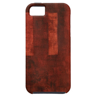 Deep Crimson Painting with Geometric Shapes iPhone 5 Case