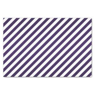 Deep Dark Purple and White Stripes Tissue Paper
