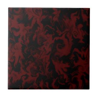 Deep Dark Red & Black mixed color tile