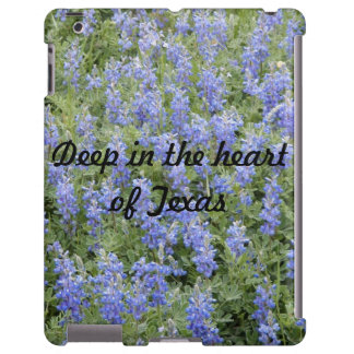 """Deep in the heart of Texas"" bluebonnet iPad case"