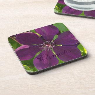 Deep Magenta Clematis Coaster
