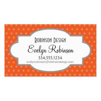 Deep Orange Polka Dots Pack Of Standard Business Cards