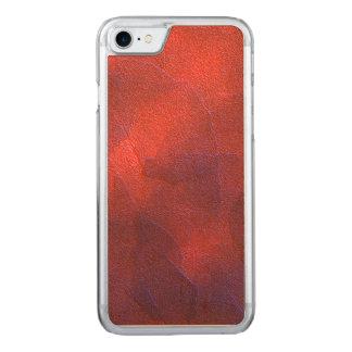 Deep Orange with Vivid Purple Blue Highlights Art Carved iPhone 8/7 Case