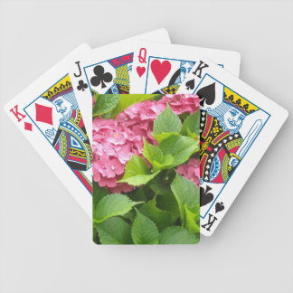 Deep Pink Hydrangeas Bicycle Playing Cards