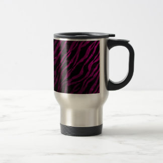 Deep Pink Zebra Grunge& metal textured Mugs