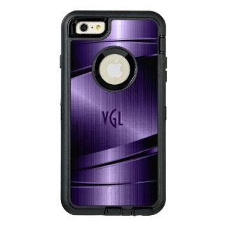 Deep-Purple Geometric Modern Metallic Texture OtterBox Defender iPhone Case
