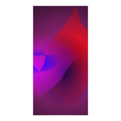 Deep Purple Simple Abstract Art Photo Card Template