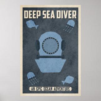 Deep Sea Diver (Vintage Poster Design)