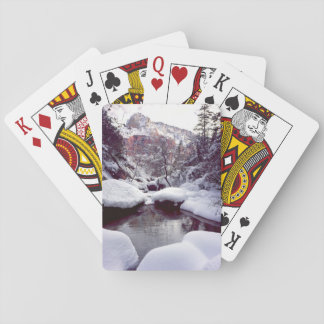 Deep snow at Middle Emerald Pools Playing Cards
