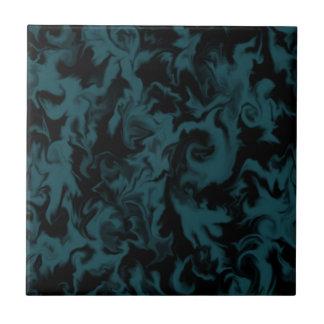 Deep Teal & Black mixed color tile