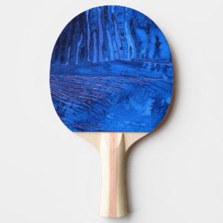 """Deep Water #2"" Abstract Ping Pong Paddle"