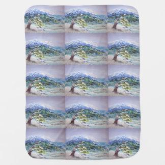 Deep Winter, acrylic landscape Baby Blanket